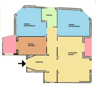 rifT311 Trilocale piano alto con ascensore